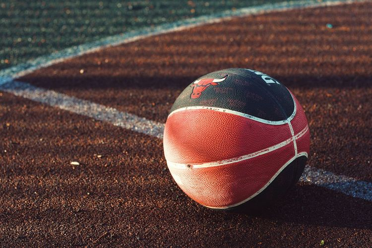 Basketball Basketball Sport Ball No People Day Sports Equipment Tennis Close-up Outdoors Still Life Sunlight Playing Field Single Object High Angle View Shadow Nature Sphere Focus On Foreground Baseball - Sport Baseball - Ball Court