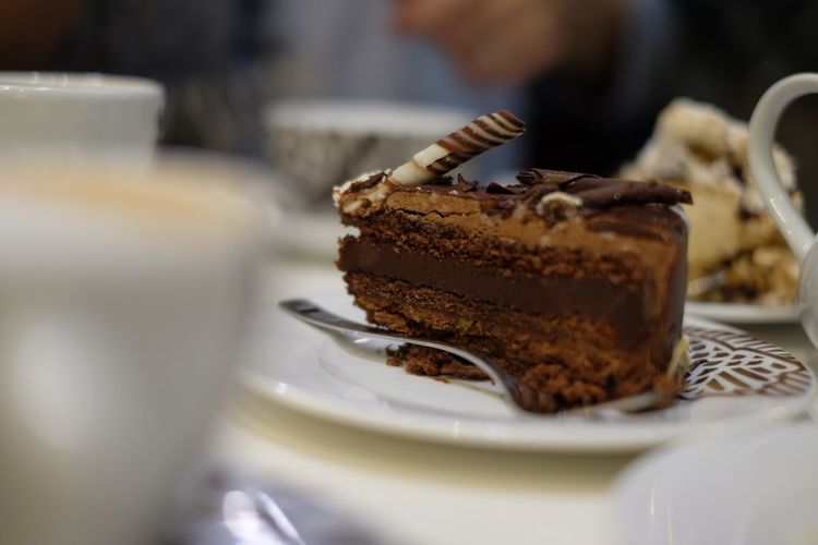 Cake Chocolate Close-up Dessert Focus On Foreground Food Food And Drink Freshness Indoors  Indulgence No People Plate Ready-to-eat Seafood Selective Focus Still Life Sweet Food Table Temptation Unhealthy Eating