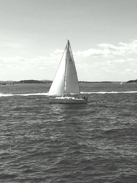 Out to sea Two Is Better Than One Water Sky Sea Journey Sailing Day Tourism Tranquility Sailing Boat Rippled Canvas Cloud Outdoors Beautiful Enjoying Life Relaxing No People Seascape Blackandwhite