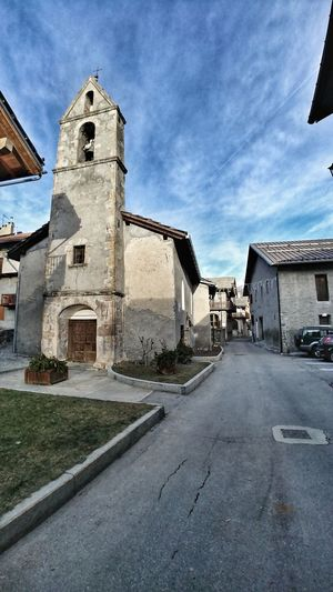 les Arnauds Les Arnauds Bardonecchia Piedmont Italy Italy🇮🇹 Alps Place Of Worship Clock Tower History Religion Spirituality Sky Architecture Building Exterior Built Structure Cloud - Sky Tower Village
