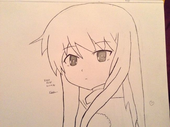 Drawing Shiina <3 My Anime Drawing <3 AnimeDaisukiForLife OtakuAnime KAWAII Drawing