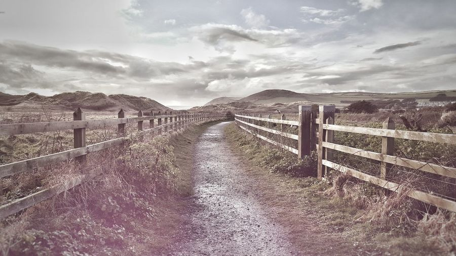 There was nowhere to go but everywhere. Farm Road The Destination Is The Journey Hills Backround Cornwall Walks