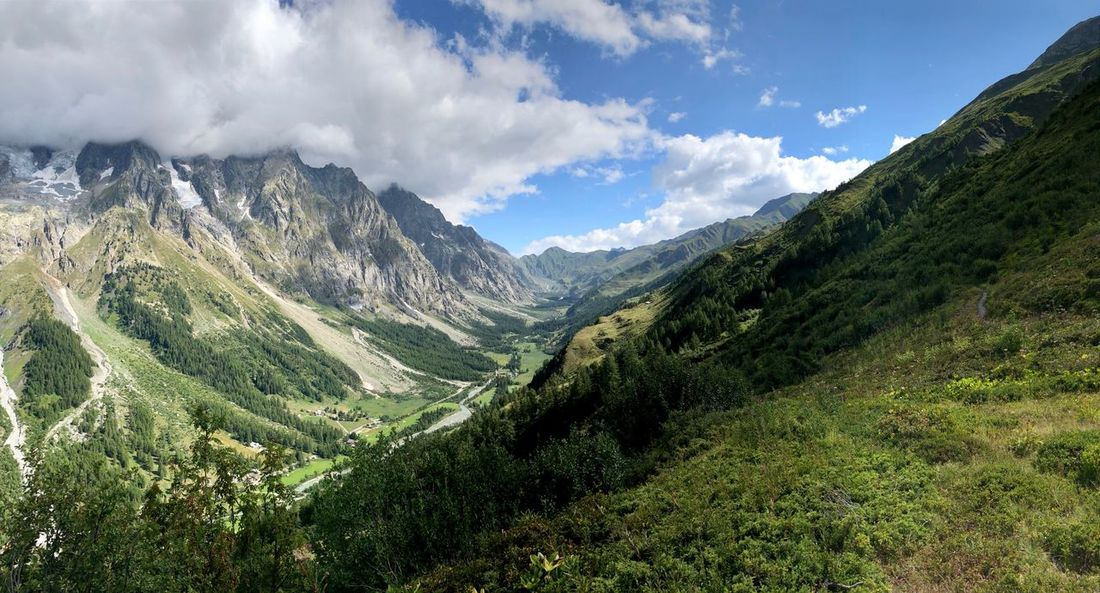 Val Ferret Walking Space Travel Exploration Sustainability Challenge Trekking Wildlife Wood Beauty In Nature Cloud - Sky Scenics - Nature Plant Sky Tranquility Landscape Mountain Tranquil Scene Environment Nature Growth Green Color Land Tree Mountain Range No People Day Non-urban Scene Idyllic