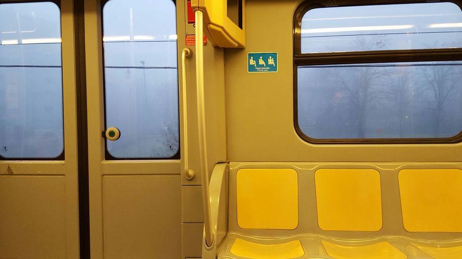 Train on road