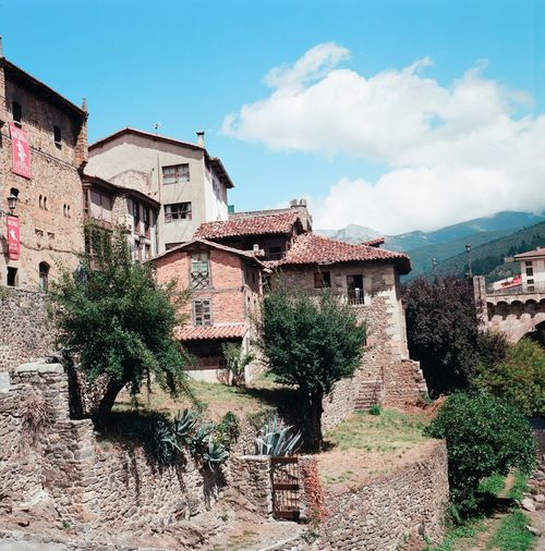 Spanish village Potes. Very beautiful. Architecture Built Structure Building Exterior Sky Cloud - Sky Low Angle View Cloud Residential Building Day Outdoors Cloudy No People Residential District