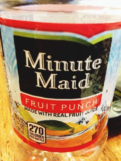 Fruit drink Minute Maid Fruit Drink Cold Drink Thirsty  Drink