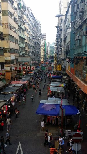 Overlooking fa yuen street and the shops from padestrian bridge Streerphotography Hellooo Eyem !  My City Taking Photos