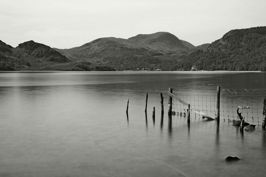 Ullswater Animal Themes Beauty In Nature Day Lake Landscape Blackandwhite Mode Of Transportation Mountain Mountain Range Nature No People Non-urban Scene Outdoors Reflection Scenics - Nature Sky Tranquil Scene Tranquility Transportation Ullswater, Lake District, Water Waterfront Wooden Post
