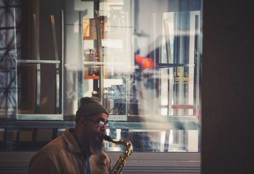 Street music • Playing for joy or playing for survival? The Human Condition Streetphotography Street Musicians Saxophone Washington, D. C. City Streets  Urban Life Street Photography City Life Everyday Joy