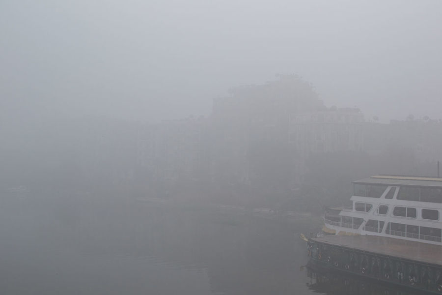 Cold Copy Space Day Fog Foggy Mist Morning In The City Nile River No People Outdoors Poor Visibility River River Bank  Sky View From A Bridge Water