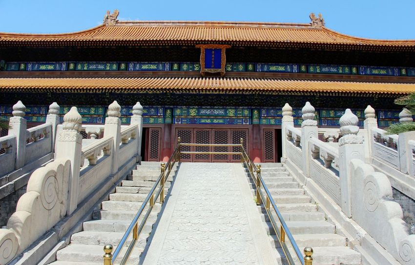 Architectural Feature Architecture Architecture BEIJING北京CHINA中国BEAUTY Building Exterior Built Structure Famous Place Historical Building History Old-fashioned Palace Roof Stately Steps Steps Temple Temple - Building Time Tranquil Scene Tranquility Travel Destinations