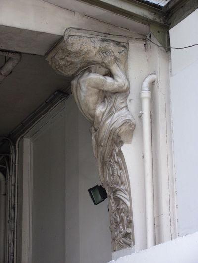 Architecture Building Exterior Caryatid Paris Religion Sculpture Statue