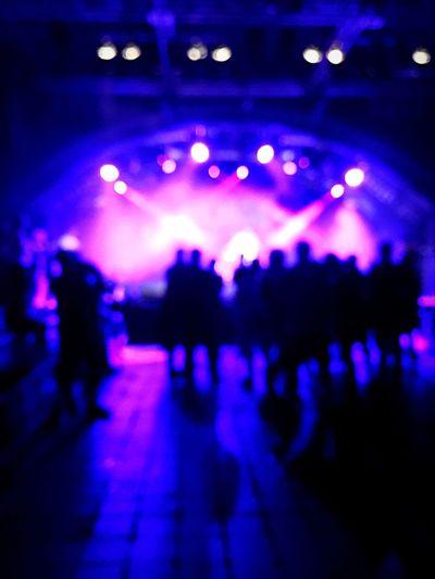 Marx Markthalle Illuminated Silhouette Music Nightlife Blue Hamburg Patmankypark