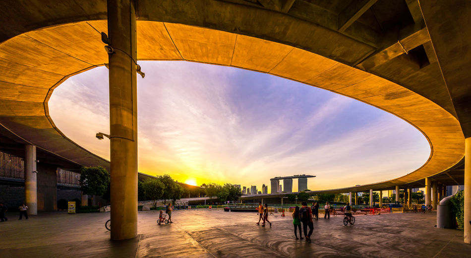 Marina barrage Sunset Cityscape Curves Marina Bay Sands NiSi Filters Nikon Panorama Tourist Tree YourSingapore Bicycle Building Exterior Built Structure Cloud - Sky Kid Singaporean Sunset Visitsingapore