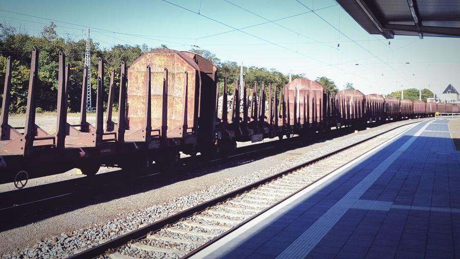 Railroad Track Railroad Station Platform cargo First Eyeem Photo