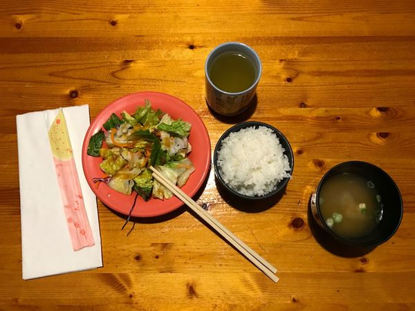 Miso Soup Rice Salad Green Tea ❤️ Tea USA Enjoying Life Frugal Appetizer Healthy Lunch Japanese Food Food And Drink Table Food Freshness Indoors  Bowl High Angle View Healthy Eating No People Close-up Ready-to-eat Day Chopsticks
