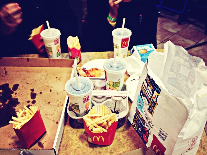 Dinner on the road, next best thing to a home cooked meal. McDonald's