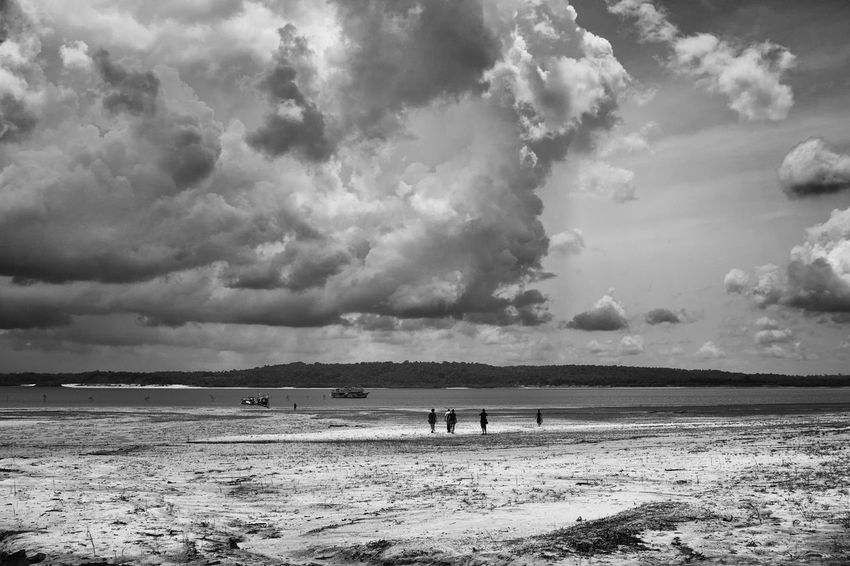A storm coming. A storm was forming when we started to come back. We were walking on the beach in Rio Negro (Black River), near Dessana tribe. Amazon Rainforest B&w Beach Beauty In Nature Black And White Cloud - Sky EyeEmNewHere Fine Art Lifestyles Nature Outdoors Sand Scenics Sea Sky Tranquil Scene Tranquility Travel Destinations Vacations Water The Great Outdoors - 2017 EyeEm Awards Place Of Heart