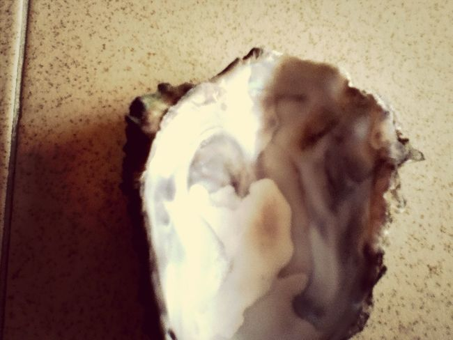I opened an oyster and i saw that it has a heart in it...so cool!