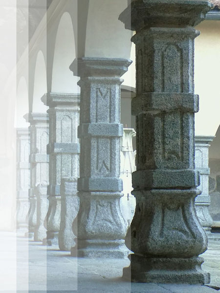 Ancient Arches Architectural Column Architecture Built Structure Column Effects Faded Geometry Green Color Grey Indoors  Italy Monza No People Perspective Pillar Travel Destinations