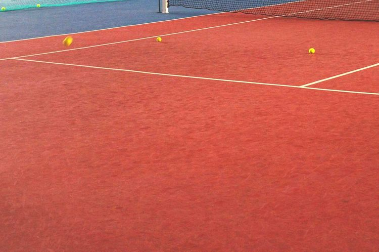 Tennis balls on a tennis field. Playing Tennis Tennis Tennislife Tennis 🎾 Minimalism Urban Sports The Places I've Been Today Capturing Movement Smart Simplicity Need For Speed Bang On Target Photography In Motion