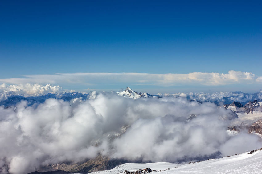 Beauty In Nature Caucasus Climbing Landscape Mountain Mountains Nature No Filter No People Peak Russia Summit