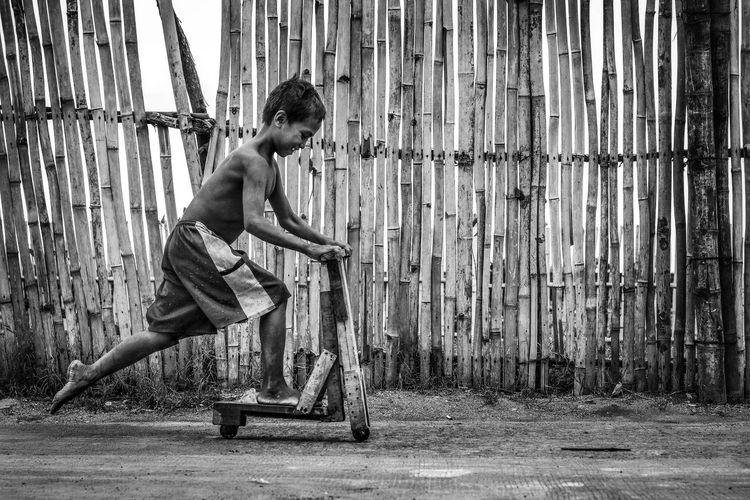 Full Length Shirtless Day Lifestyles Childhood Child