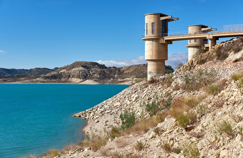 La Pedrera Reservoir in Orihuela. It was finished in 1983 and supplies water for agricultural and municipal use. Spain Alicante Province Spain Costa Blanca Hills La Pedrera Nature Orihuela  SPAIN Sunlight Torremendo Barrier Beauty In Nature Dam Europe Lake Landscape Mountains No People Nobody Picturesque Reservoir Reservoir Dam Reservoir View Sunny Day Tranquil Scene Water