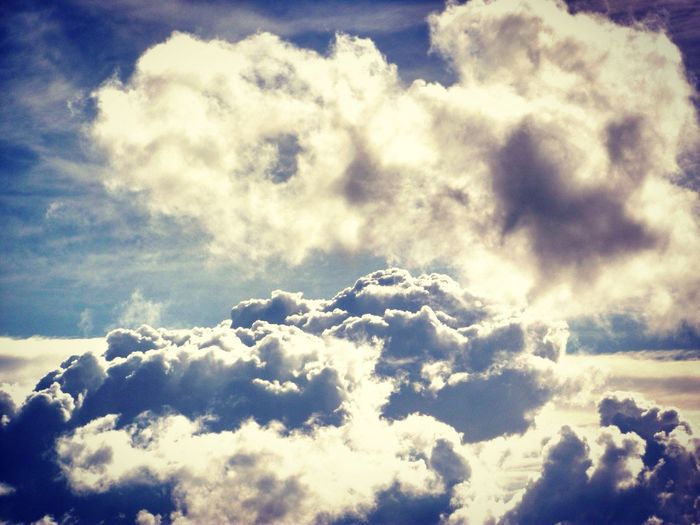 Nature Beauty In Nature Cloud - Sky Fluffy Cloudscape Sky Softness Backgrounds Tranquility Sky Only Heaven Blue No People Low Angle View Scenics Day Sunlight Full Frame Outdoors