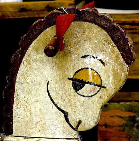 Flirty Eyes Rocking Horse Antique