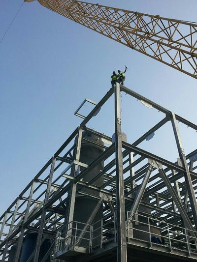 Low Angle View Built Structure Architecture Architecture Iron Work Ironworkers Crane - Construction Machinery Iron - Metal Steel Construction Cranes For Construction EyeEmNewHere Metal Iron