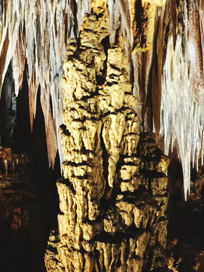Close-up of rock formation in cave