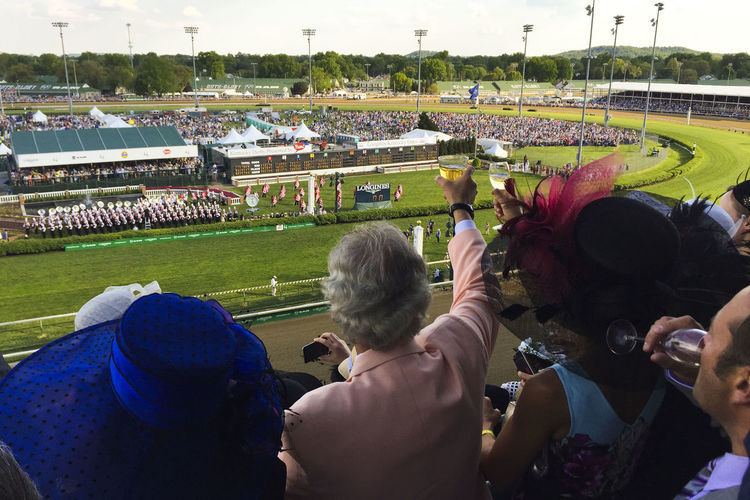 America Cheering Churchill Downs Crowd Day Derby Fashion From Above  Hats Horse Racing Kentucky  Kentucky Derby Large Group Of People Louisville Millionaires Row Oaks Outdoors Racetrack Toast Winning Finding New Frontiers