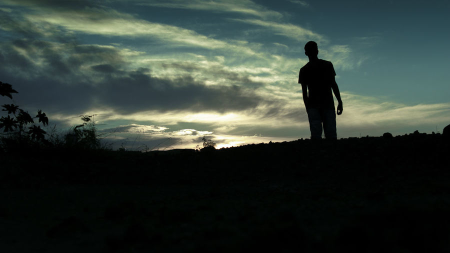 100D Bestoftheday Canon Favorite Its Me Man Me Silhouette Sky Sky And Clouds Sl1 Sunset
