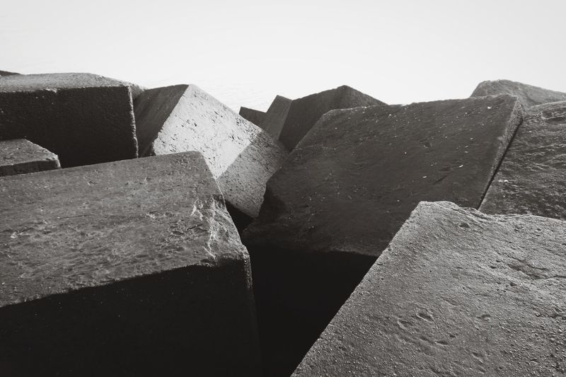 Stone Material Light And Shadow Blackandwhite Close Up Sky Built Structure