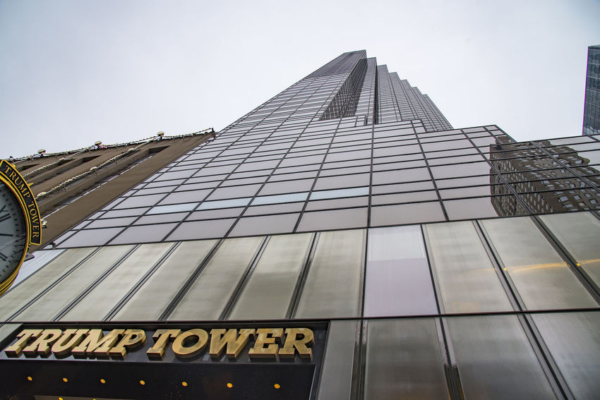 Trump Tower New York City Architecture Buildings Built Structure City Conspiracy Corruption Day Election Electric Light Fraud Government HILARY CLINTON Looking Up Low Angle View Manhattan Mogul New York City No People Obama Politics President Real Estate Results Trump, Trump Tower Wealth