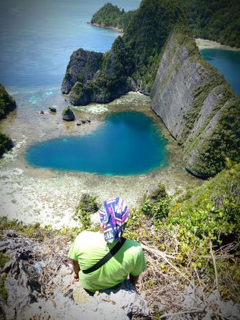 Heart Shape Rajaampat Papuabarat INDONESIA Lagoon Lagoonheart Water Sea High Angle View Beach Nature Beauty In Nature One Person Vacations