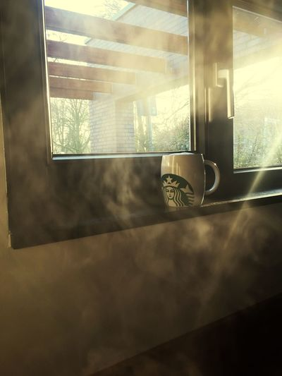 Window Indoors  No People Day Coffee Time First Coffee Of The Day Hello World Great Atmosphere Great To Be Here Chill Mode Time To Reflect Time For Breakfast  Coffee Cup Window View Windows Window Frame Dusty