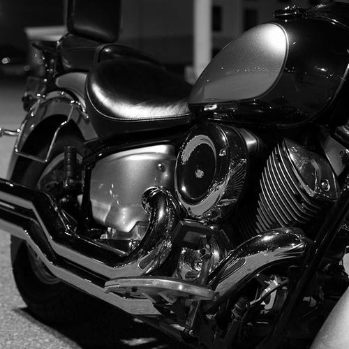Blackandwhite Monochrome Chrome Motorcycle Vstar Yamahamotorcycles Engine Motor Vtwin
