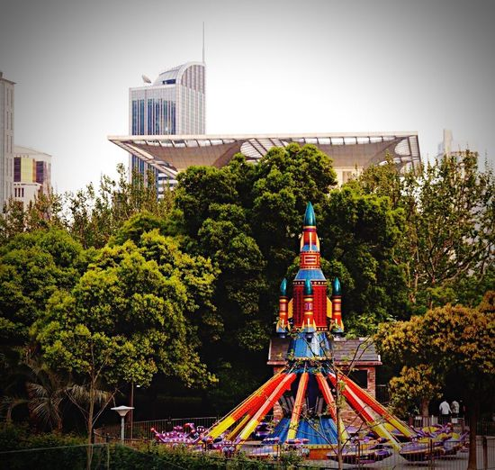 Rocket Architecture Skyscraper City Outdoors Urban Skyline Cityscape No People China Shanghai Modern Urban Playground City City Life Architecture No People, Modern Life City View