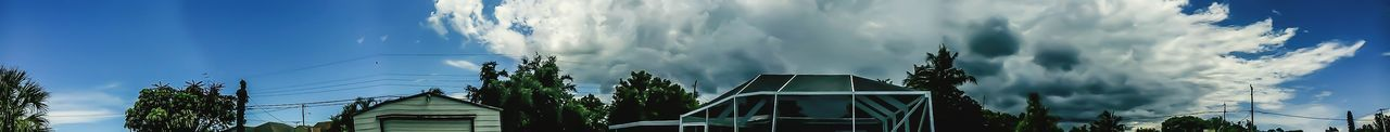 panoromic view, in coming storm !!! looks like it singled out my neighborhood !!! its just hanging there ... today 3 pm