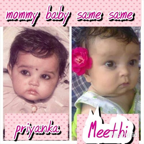 Meet my replicaa! Say hellooo to my baby pie!My first born mommy baby soo much alike!isint she adorable?Lillmunchkin Cutenessoverloaded Howmuchiloveher Kallatikka❤ myysugarcube!????