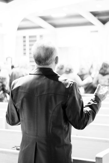 Can I get a hallelujah? Blackandwhite Casual Clothing Churchactivity Contemplation Depth Of Field Formal Evening Front View Holylight Innocence Leatherjacket Leisure Activity Lifestyles Looking At Camera Men Monochrome Person Photography Portrait Praisethelord Praying Real People Selective Focus Standing Tucson Arizona  Fine Art Photography The Photojournalist - 2017 EyeEm Awards