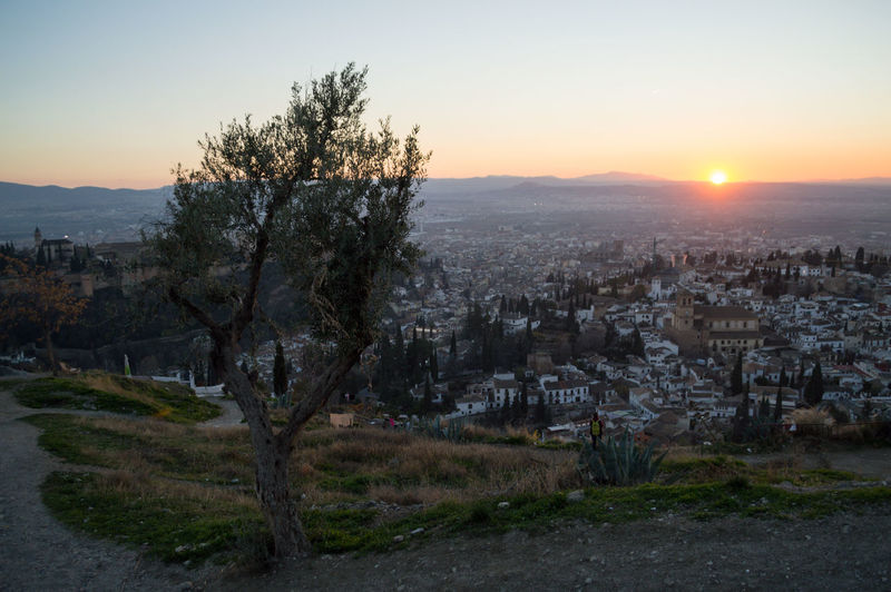 Granada Granada, Spain Andalucía Albaicin Albaycin Sacromonte San Migueal Del Alto Architecture Sky Building Exterior City Built Structure Sunset Tree Nature Plant Building Sun Residential District Cityscape No People Outdoors Clear Sky Town Environment TOWNSCAPE