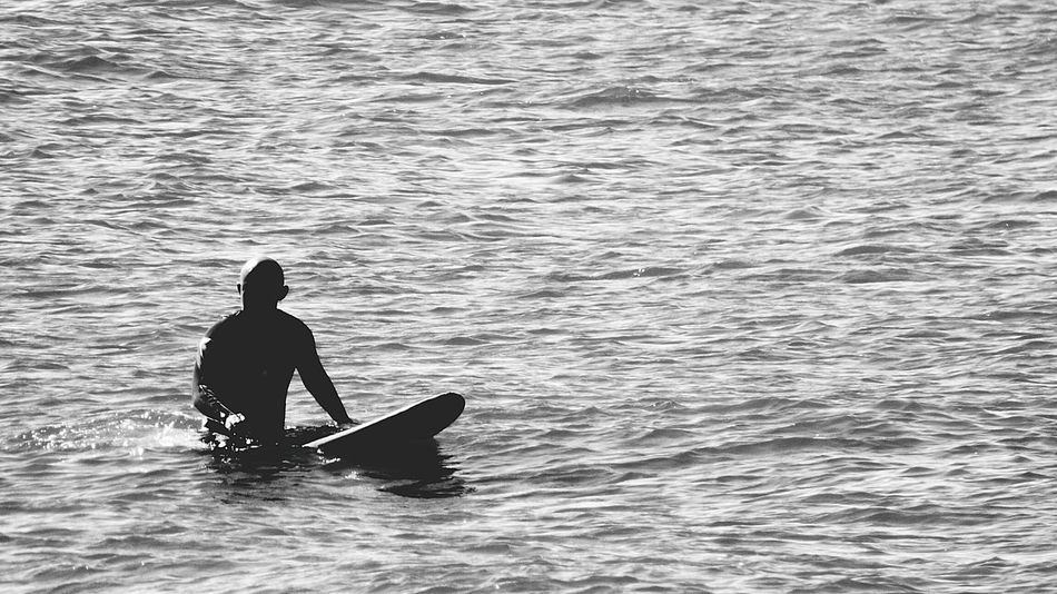 Monochrome Photography Carcavelos Beach Water Surface Surfer On The Water Surferlife Surfer Dude Blackandwhite Photography Water_collection Enjoying Life Water Human Representation Surf Photography Surfboard Black And White Photography Black And White Collection