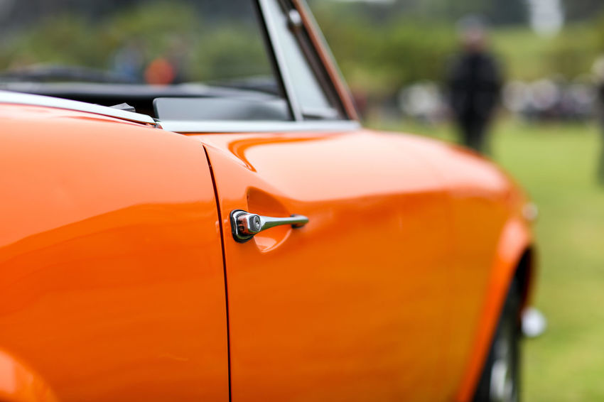 Fiat Fiat Old School Retro Car Convertible Day Door Handle Italian Luxury Mode Of Transportation Motor Vehicle No People Orange Color Outdoors Sports Car Vehicle Vintage Vintage Cars