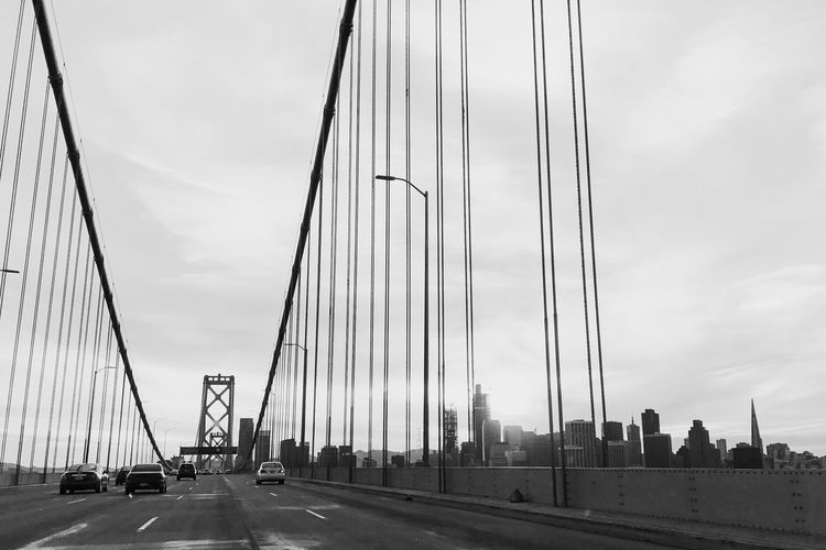 The Street Photographer - 2017 EyeEm Awards Transportation Suspension Bridge Bay Bridge Skyline