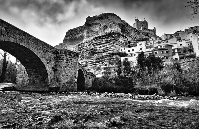 Medieval memories Castle SPAIN No People Landscape Light And Shadow Blackandwhite River Sky Architecture Built Structure Civilization Old Ruin Rocky Mountains Ruined Archaeology The Past Historic Ancient Civilization
