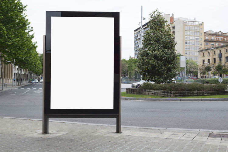 Blank billboard mock up in the street No People Plant Outdoors Architecture Advertisement Billboard Blank Mock Up Mockup Street Bus Stop Poster Urban