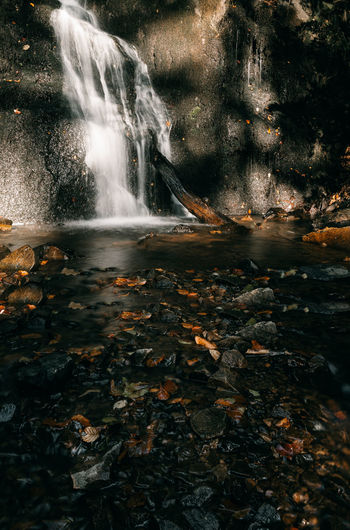 The waterfall of Forsakar. Autumn Beauty In Nature Blurred Motion Change Day Flowing Flowing Water Forest Land Leaf Leaves Long Exposure Motion Nature No People Outdoors Plant Part Power In Nature Rock Scenics - Nature Stream - Flowing Water Tree Water Waterfall